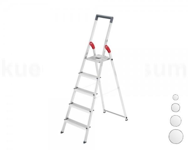 Hailo Alu-Sicherheits-Stufenstehleiter ProfiLine S 150 bis 8 Stufen