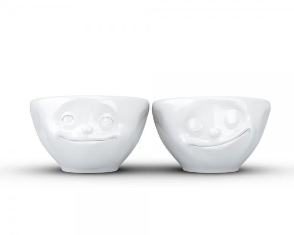TV Tasse Dip-Set 30 Verträumt und Glücklich klein weiß
