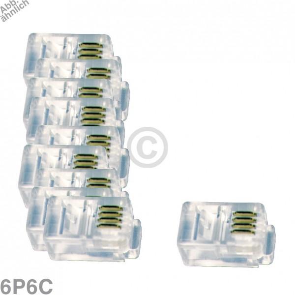 Europart Modular-Stecker 6P6C, 10 Stück