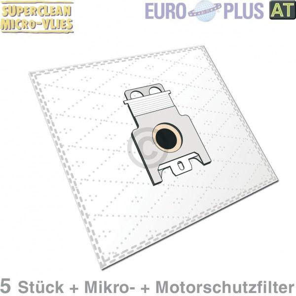 Europlus Filterbeutel M308 Vlies u.a. wie Miele 9917710 Typ F/J/M für Bodenstaubsauger 5Stk Filterma