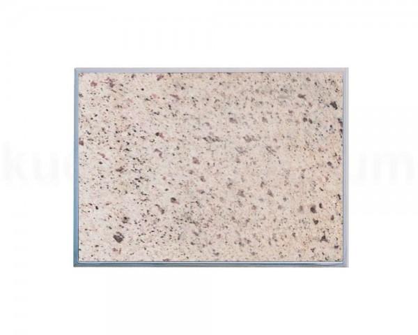 Einbau Granitfeld Verde Eukalyptus inkl. Edelstahlwanne 510 x 325 x 10 mm