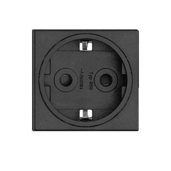 Steckdosenmodul 16 A schwarz