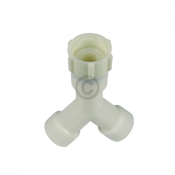 Gabelanschluss Doppelanschluss für Zulaufschlauch Waschmaschine Geschirrspüler