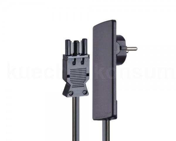 Schulte EVOline Plug 01.521 Flachstecker 1.5 m mit Wieland GST 18i3 schwarz