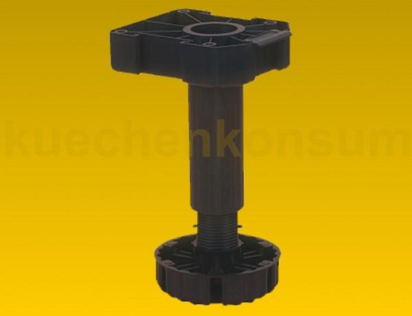 Möbelfuß 125mm höhenverstellbar (-5/+20mm), Kunststoff schwarz recycelbar, Tragkraft 500kg, 40 Stück