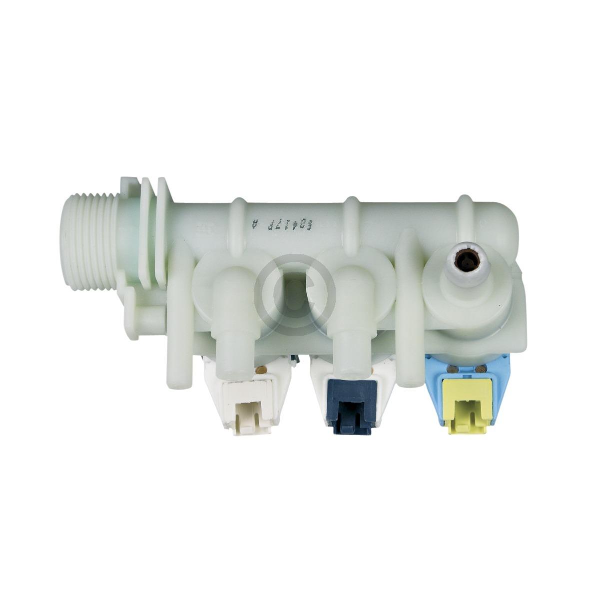 Magnetventil 3-fach 90° 10mm+11,5mmØ mit Reduzierung wie Indesit C00110331