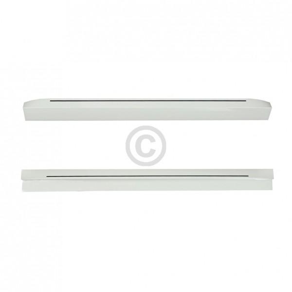 BSH-Gruppe Türgriffsatz SIEMENS 00290570 weiß mit Dekorstreifen für KühlGefrierKombination