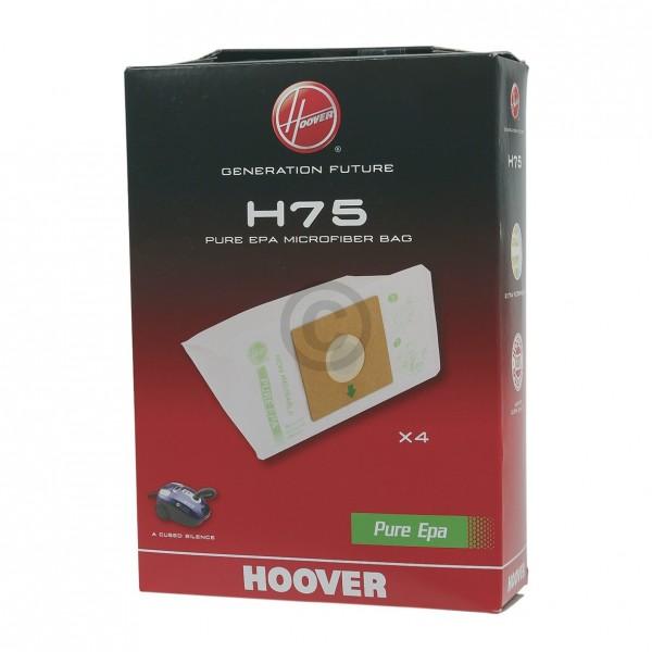 CandyHoover Filterbeutel HOOVER 35601663 H75 für Staubsauger 4Stk