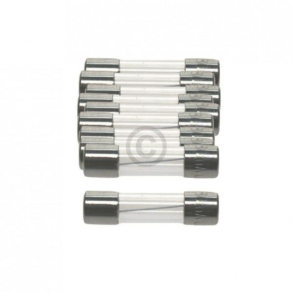 Europart DIN-Sicherung 0,63A träge 5x20mm Feinsicherung 10Stk