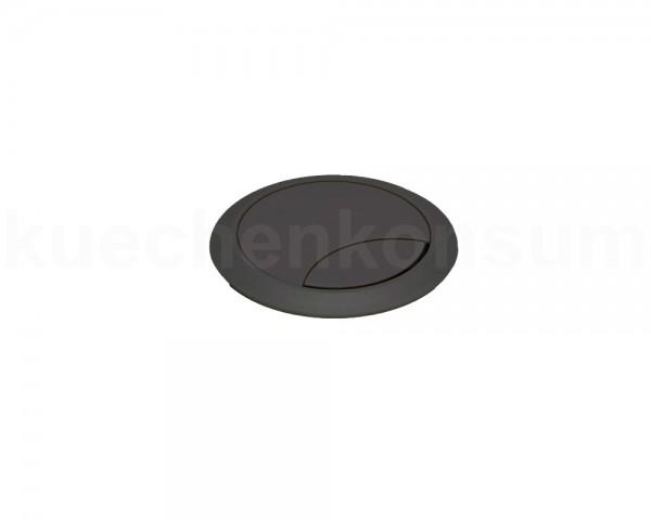 Kabeldurchlass 60 mm für Arbeitsplatte Kunststoff schwarz