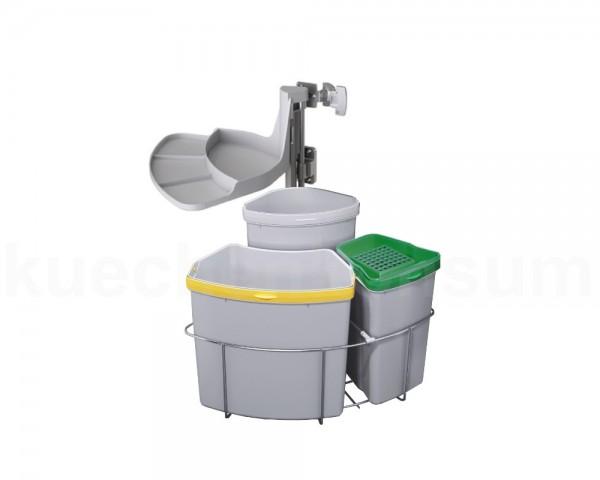Abfallcenter Nr. 3 Schwenkeimer 19, 12 und 9 Liter Bio Deckel + Filter