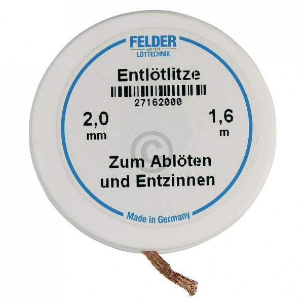 Europart Entlötlitze 2mm, 1,6m Rolle