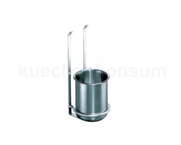 Linero 2000 Köcherhalter Edelstahl Optik inkl. 1 Köcher 147 x 150 x 336 mm