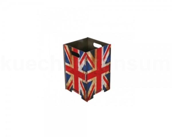 Werkhaus Papierkorb PP9348 klein Union Jack 190 x 190 x 290 mm