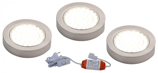 LED Aufbaustrahler ARI 3er Komplett anschlussfertiges Strahler-Set