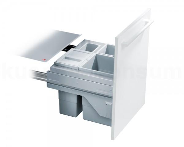 Hailo Abfallsammler 3610541 CS Slide Cargo-Soft 2x 10 + 15 Liter