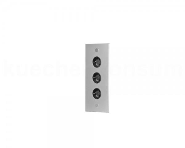 Thebo Ecksteckdose 17587/320/3 Aluminium 3-fach ST 3007/320/3