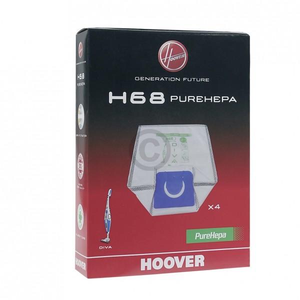 CandyHoover Filterbeutel HOOVER 35601148 H68 für Staubsauger 4Stk