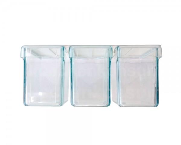 Schüttensatz für Oberschrank 3fach glasklar
