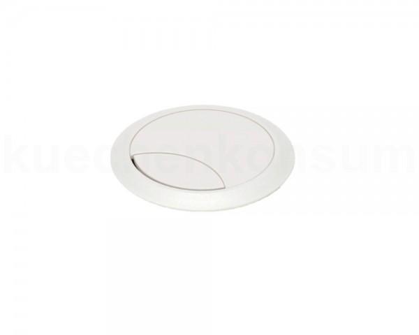 Kabeldurchlass 80 mm für Arbeitsplatte Kunststoff weiß