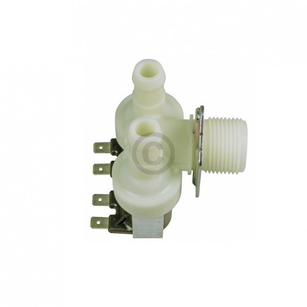 Europart Magnetventil Alternative Universal 2-fach 90° 14,0 mm für Waschmaschine Geschirrspüler Schl
