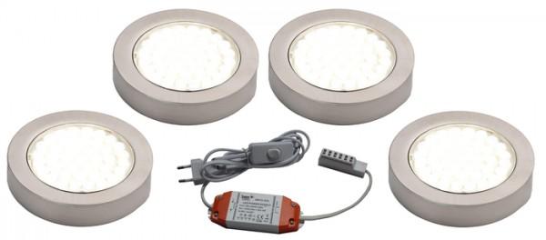 LED Aufbaustrahler ARI 4er Komplett anschlussfertiges Strahler-Set