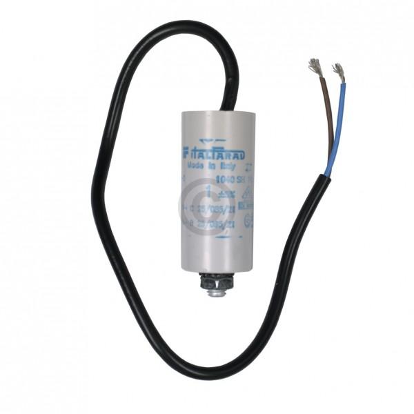 Universal Kondensator 1,00µF 450V Universal mit Anschlusskabel und Befestigungsschraube