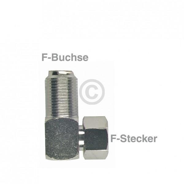 Europart F-Winkelstück Stecker/Buchse
