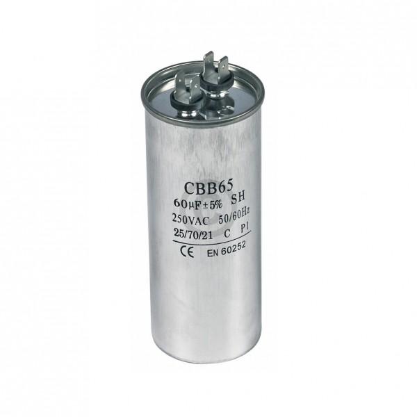 Europart Kondensator 60,00µF 250V Universal mit Steckfahnen CBB65