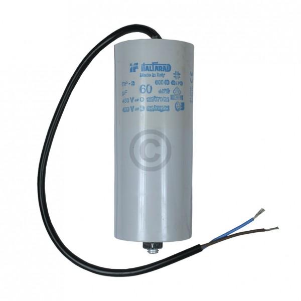 Europart Kondensator 60,00µF 450V Universal mit Anschlusskabel und Befestigungsschraube