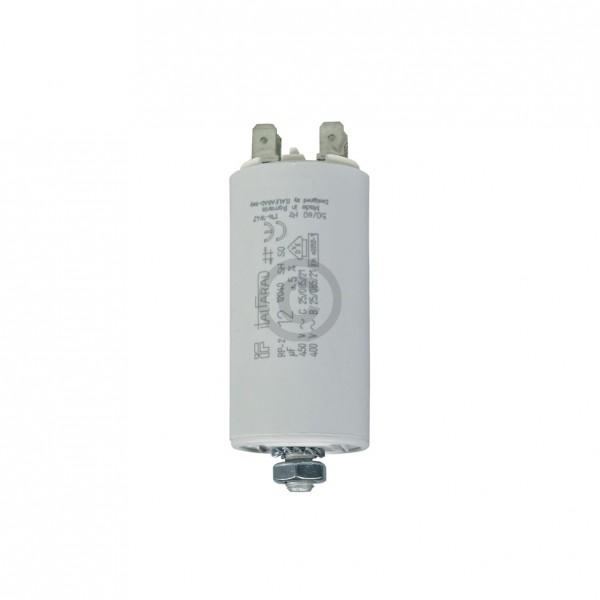 Europart Kondensator 12,00µF 450V Universal mit Steckfahnen und Befestigungsschraube