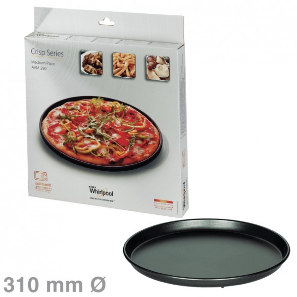 Whirlpool Drehteller Crisp-Platte 310 mmWhirlpool AVM290 480131000084 für Mikrowelle