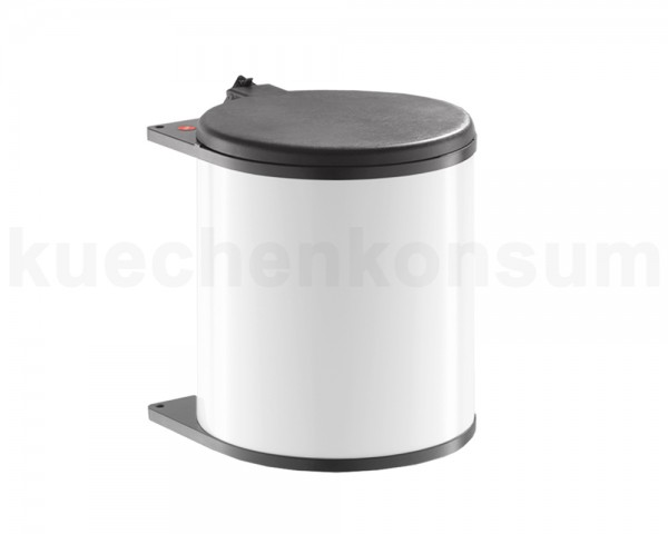 Hailo Abfallsammler 3715001 Big Box MB Swing wb 15 Liter weiß / braun