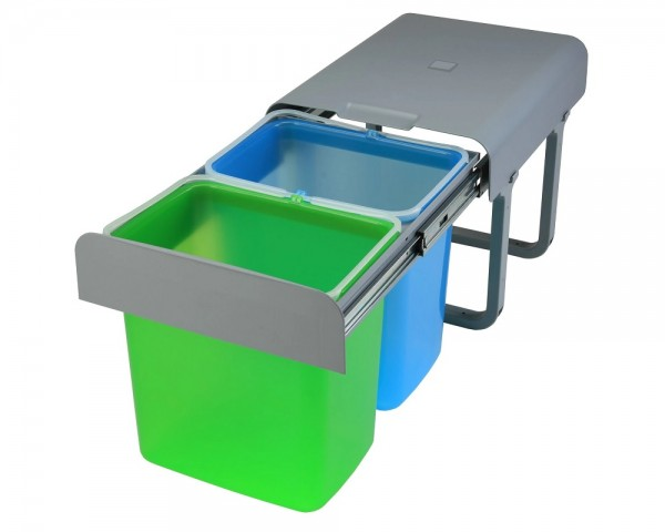 Ekotech Abfallsammler EKKO.55 grün blau 2x 16 Liter