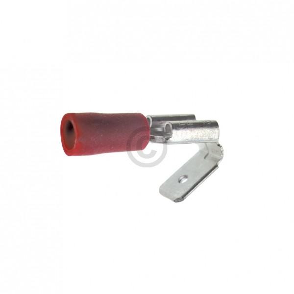Europart Flachstecker mit Doppelfahne rot 6,3mm