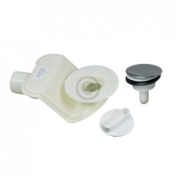 Freilauf Siphon FLG58464001 mit Ablaufstopfen FLs58464002 chrom für Duschwanne mit Ablaufloch 52mm