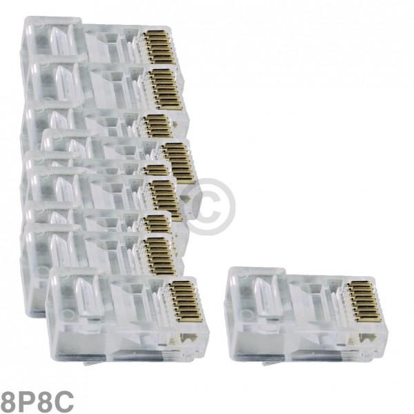 Europart Modular-Stecker 8P8C, 10 Stück