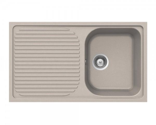 Schock Granitspüle Lithos D-100 TERRA Becken mit Ablage 860 x 500 mm