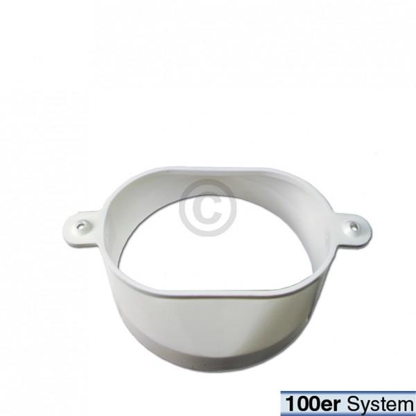 Bosch Abluftschlauchanschluss 00074816 Oval auf 100er Schlauch für Trockner