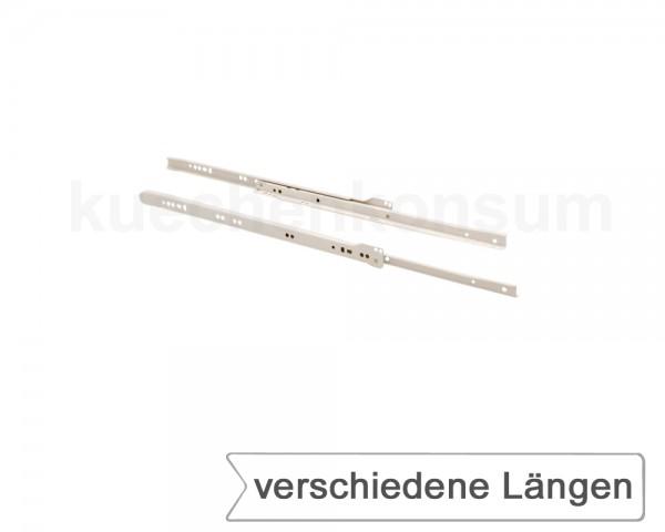 Rollenauszug 1 Paar weiß Tragkraft 30 kg Schubteilauszug 250 - 800 mm