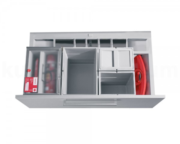 Hailo Abfallsammler 3620921 XS Inset Separato-K mit Kehrset + SafetyKit 2x 15 + 2x 7 Liter