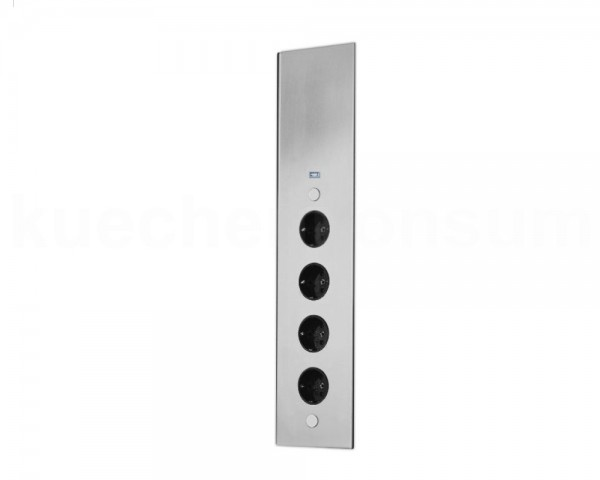Thebo Ecksteckdose 175806 Edelstahl ST 3007 4fach mit USB