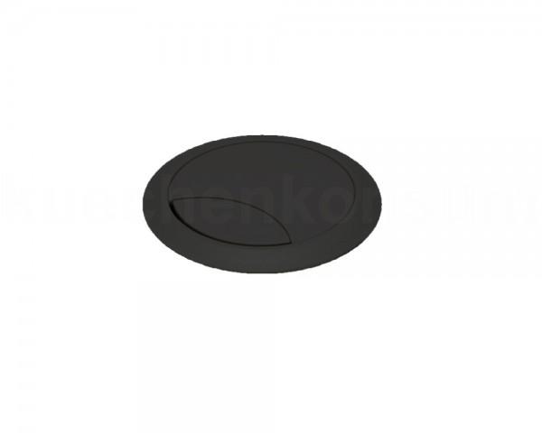 Kabeldurchlass 80 mm für Arbeitsplatte Kunststoff schwarz