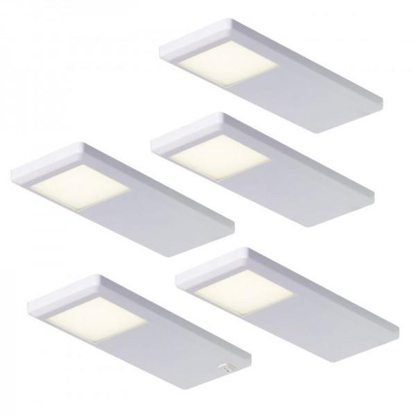 TopLine LED 5er Leuchten Set 415895 PINTO Weiß neutralweiß