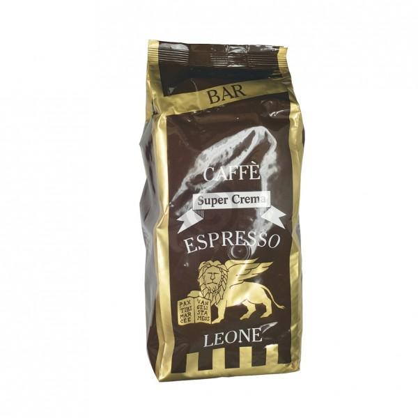 Kaffeebohnen Super Crema Espresso Leone für Espressomaschine 1000g