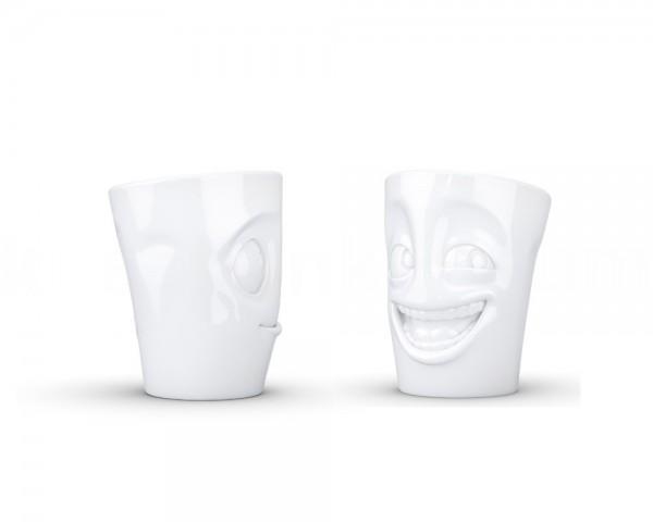 TV Tasse Becher Set 29 witzig und lecker weiß