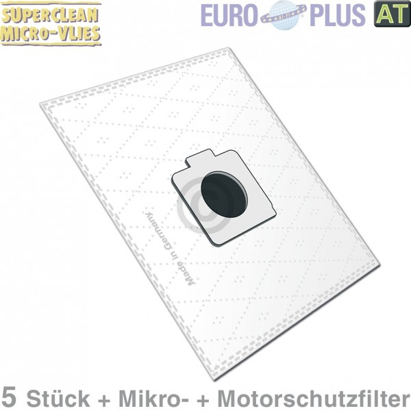 Europlus Filterbeutel Europlus MX904 Vlies u.a. für Moulinex 5 Stk