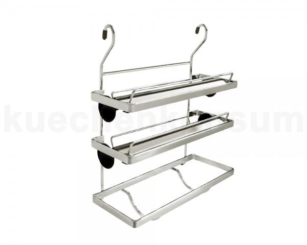 Linero Classic Rollenhalter Rollinero 3-etagig Edelstahl Optik 325 x 155 x 390 mm