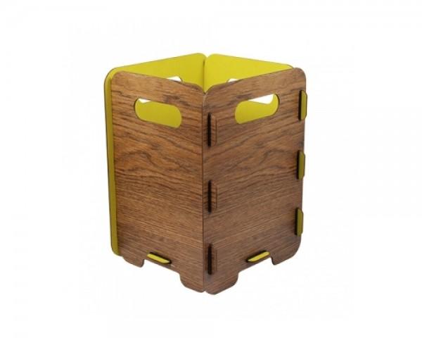 Werkhaus Papierkorb PE7005 Lemon Wood 34 x 25.3 x 25.3 cm