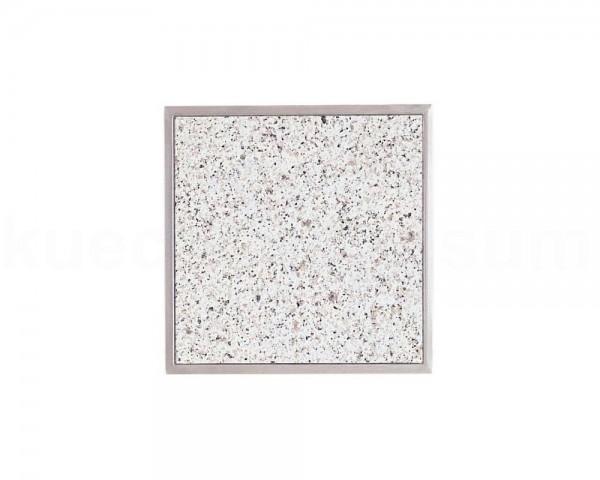 Einbau Granitfeld Bianco Crystall inkl. Edelstahlwanne 250 x 250 x 10 mm